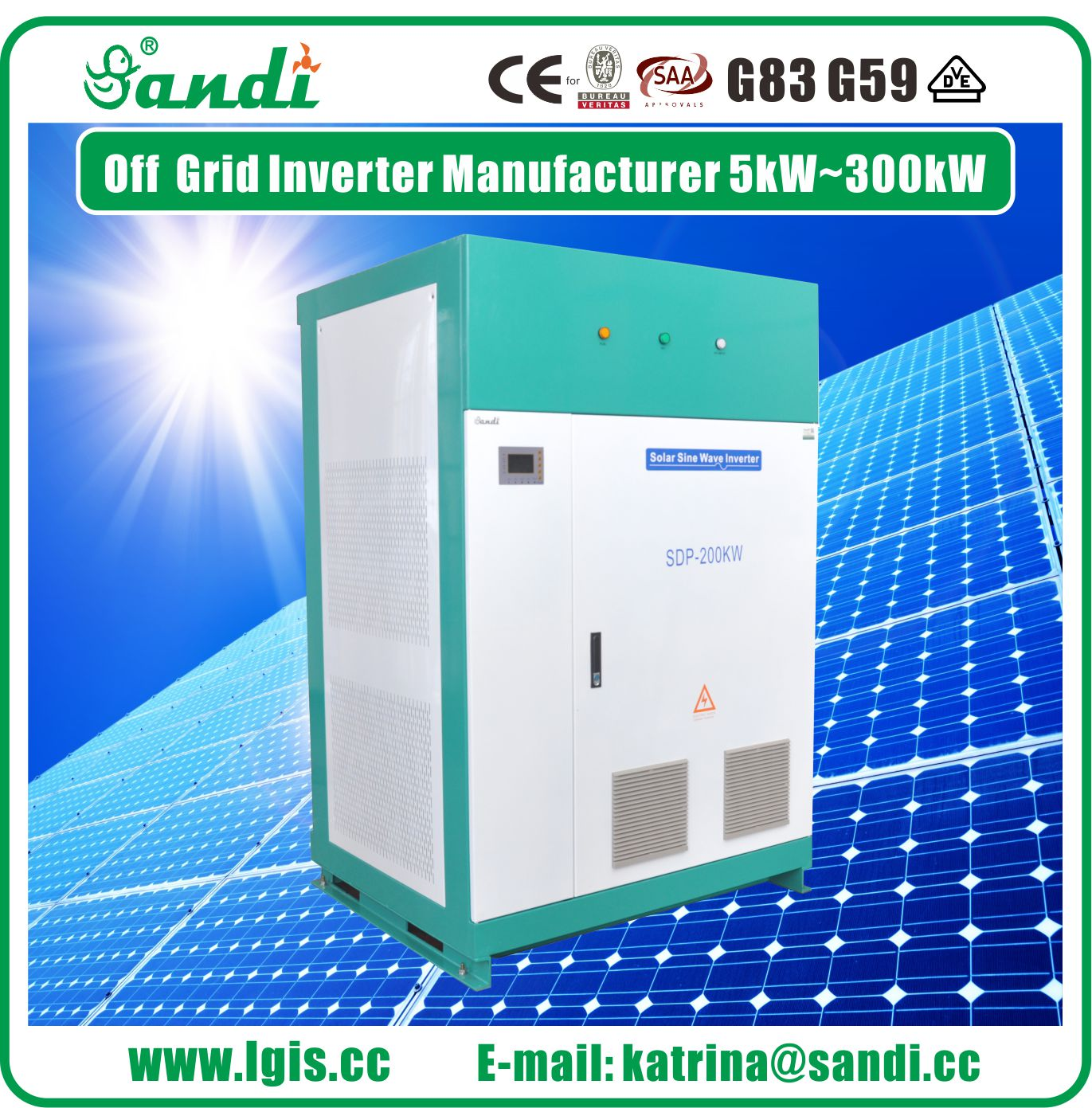 250KW Solar Stand-alone Inverters with isolation transformer